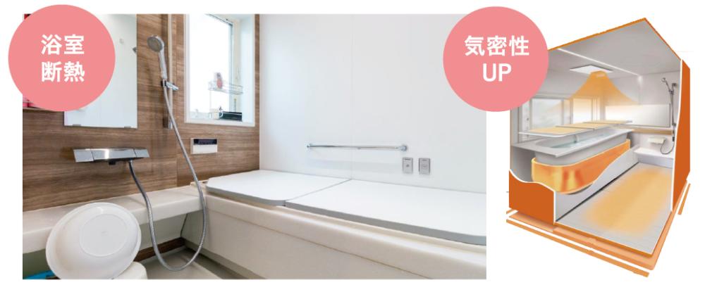 浴室断熱で気密性アップ